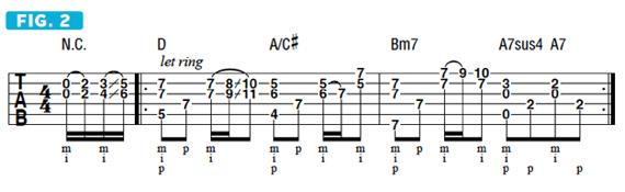 Рифф напоминает по звучание клависин