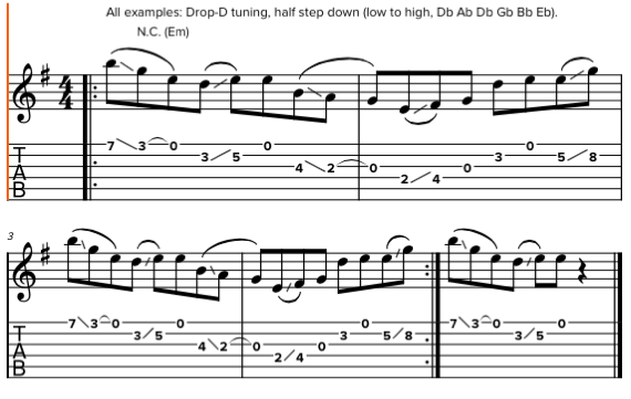 Использование слайдов и легатной техники на гитаре