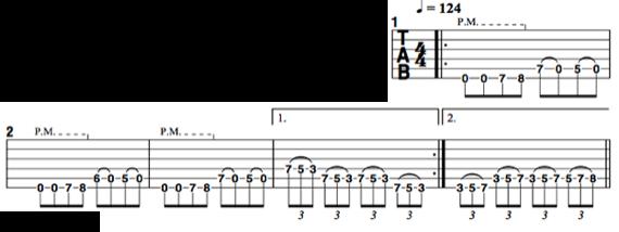 Риффы для гитары с триолями