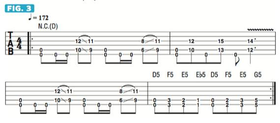Интересные риффы для гитары в дроп д