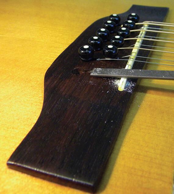 Как правильно заточить порожек на гитаре