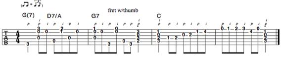 Ноты пальцевый стиль на гитаре