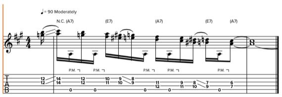 Использование дабл-стопа на гитаре