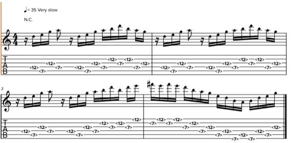 Мелодии для гитары флажолетами