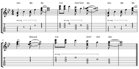 Создаем аккордовую мелодию на гитаре из отдельных нот