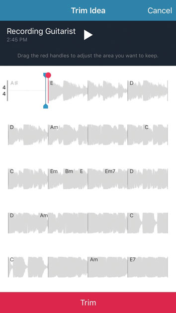 Запись гитары в Music Memos