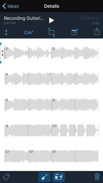 Результат записи Music Memos