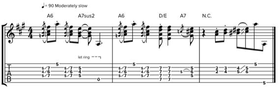 Соул на гитаре с полубаррэ и слайдом