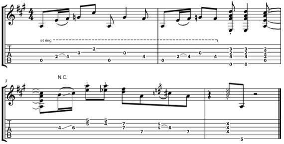 Партия ритм-гитары в стиле соул с открытыми струнами