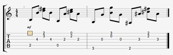 Как играть перебор в песне батарейка