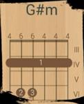 Построение аккорда G#m