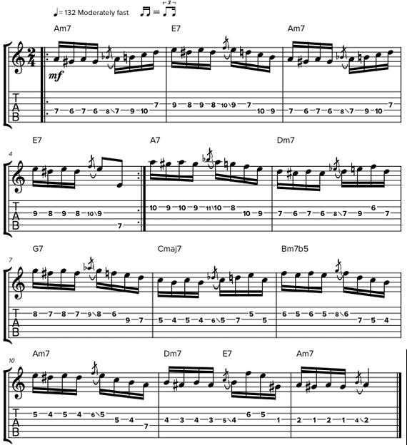 Табы и ноты паганини на гитаре