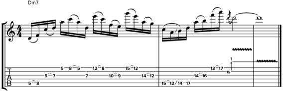 Фразы в дорийском ладу на гитаре