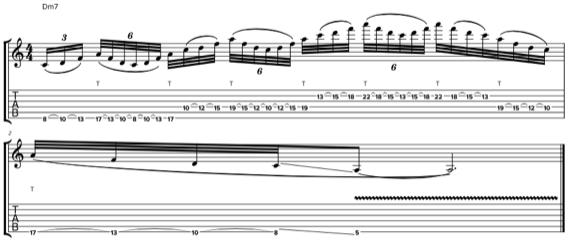 Гитарная фраза в стиле Гатри Гована