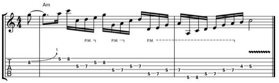 Гитарная фраза в стиле Джеффа Бека