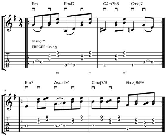 Ноты для акустики со слайдом