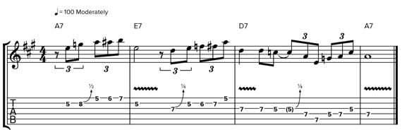 Обыгрывание аккордов в блюзе