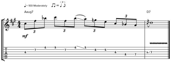 Блюзовая фраза с джазовым оттенком