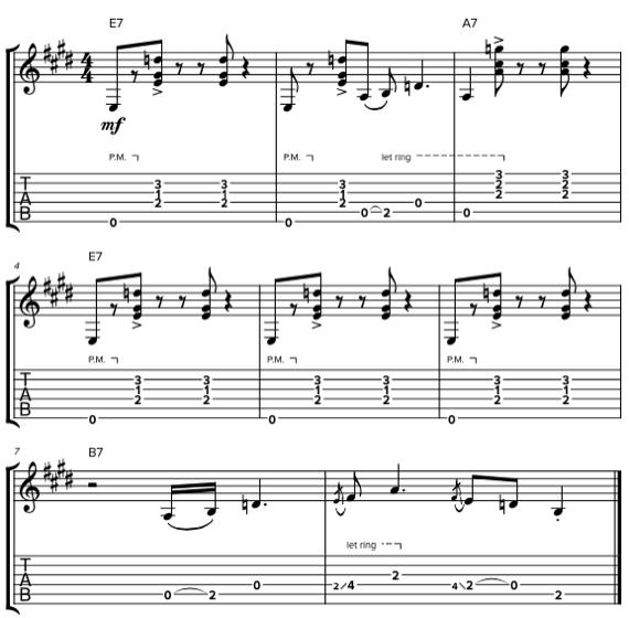 Табы и ноты аранжировки для гитары