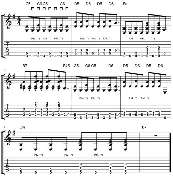 Буги на гитаре
