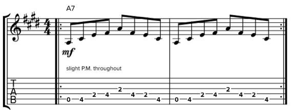 Фразы для гитары в стиле буги