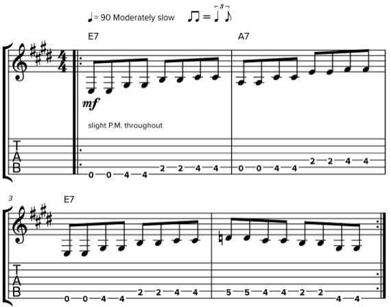 Примеры буги-вуги на гитаре