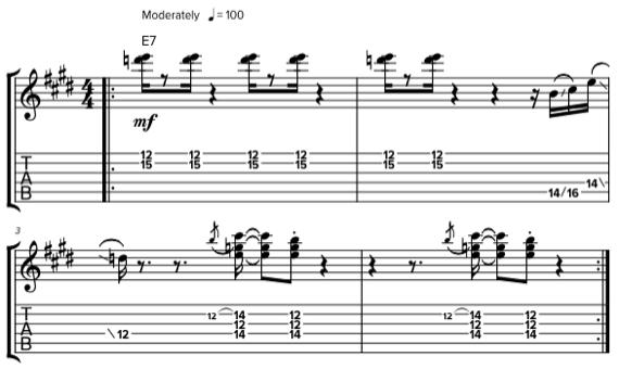 Фанковые аккорды для гитары