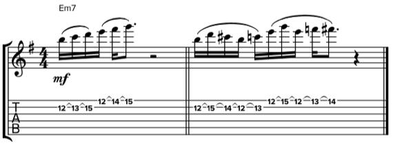 Шред фразы на гитаре