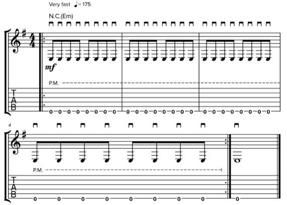Треш-метал на гитаре