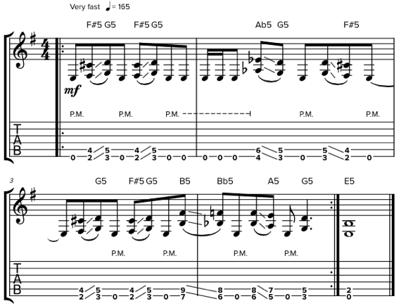 Риффы с пауэр-аккордами