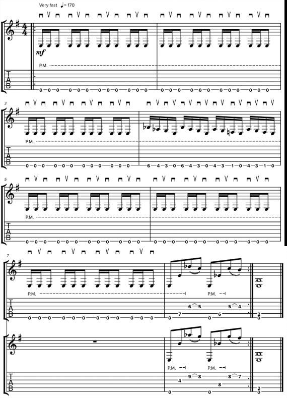 Риффы с гармониями