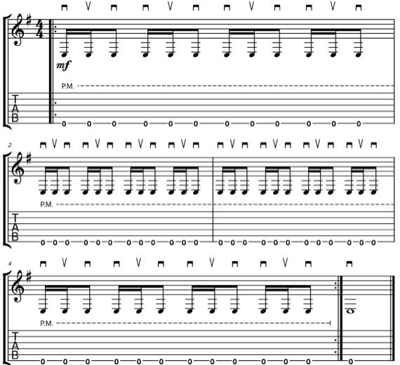 Обратный галоп на гитаре