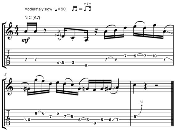 Гитарные фразы в стиле бибопа