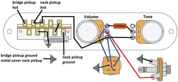 Схема распайки звукоснимателей telecaster