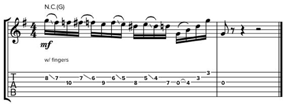 Кантри гитара ноты и табулатуры