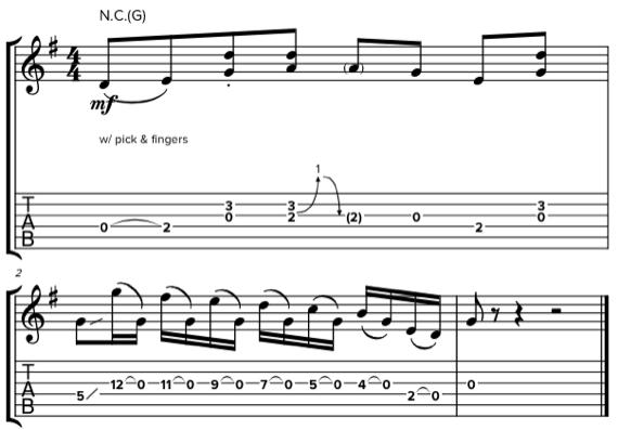 Фразы для гитары в стиле кантри