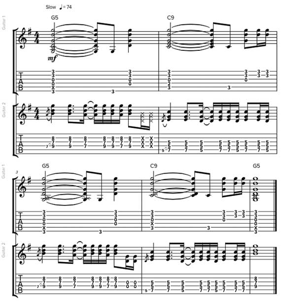 Ритмы с обращением аккордов