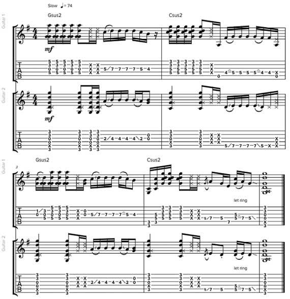 Гитарные гармонии