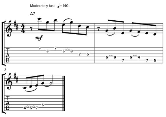 Гитарная фраза без тоники