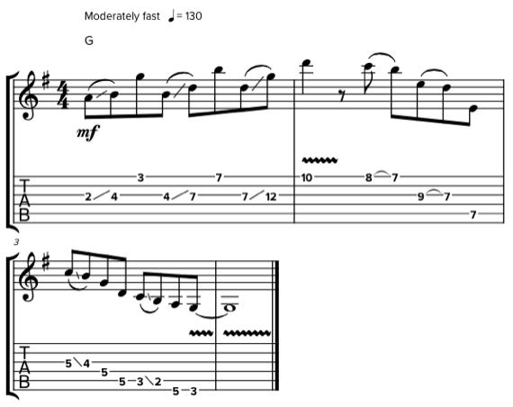 Гитарная импровизация без второй струны