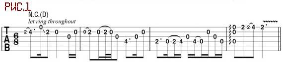 Мелодическая линия в кельтском стиле для акустической гитары