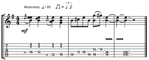 Сложные гитарные фразы со слайдом