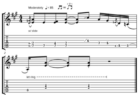 Скачать ноты и табулатуры для гитары со слайдом