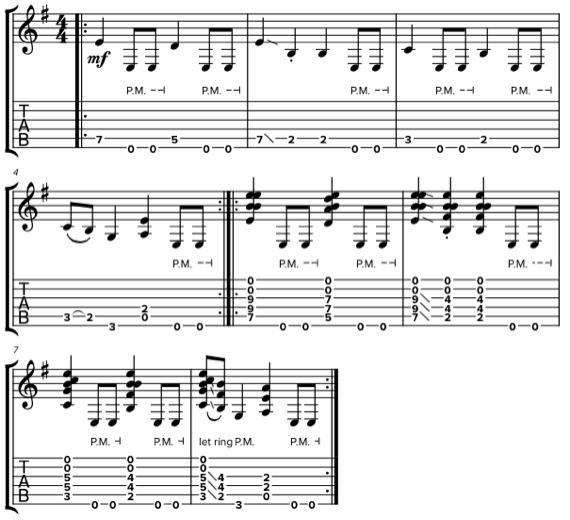 Тяжелые риффы для гитары в стиле Rush