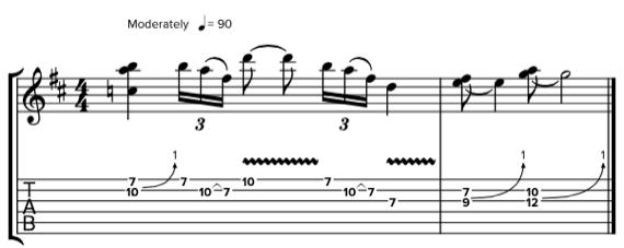 Блюз с различными эффектами на гитаре