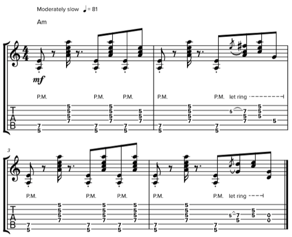 Блюзовые риффы на гитаре с пауэр-аккордами