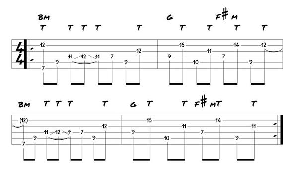 Играть тэппингом на гитаре а другой рукой аккорды