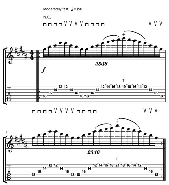 Сложные гитарные приемы и техники в стиле Джона Петруччи