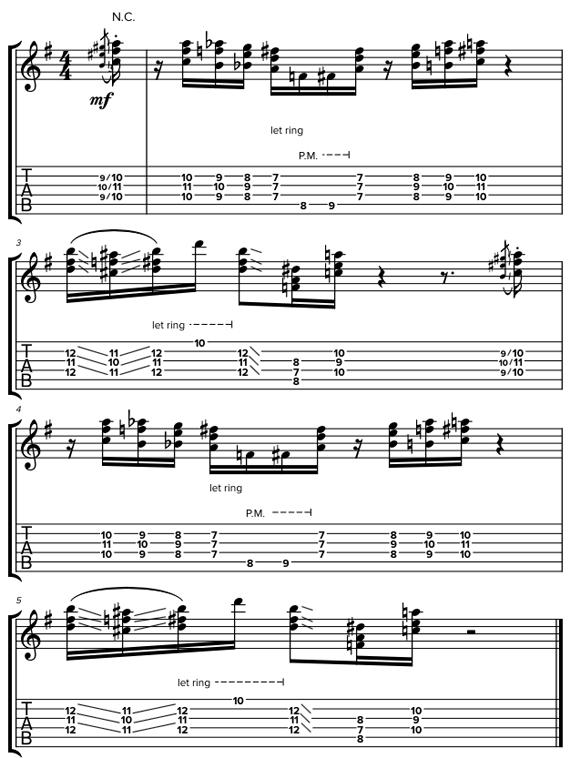 Риффы на гитаре с баррэ