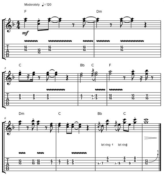 Как играть дабл стопы пальцами на электрогитаре